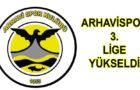 ARHAVİSPOR 3. LİGE YÜKSELDİ..
